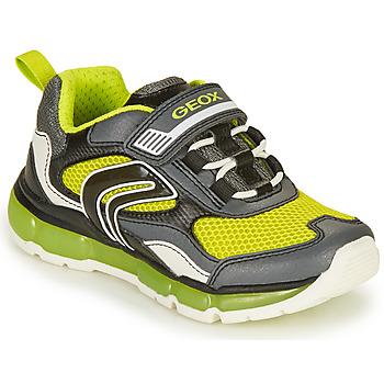 鞋子 男孩 球鞋基本款 Geox 健乐士 ANDROID BOY 灰色 / 闪光绿