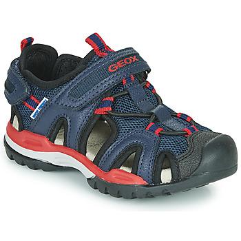 鞋子 男孩 运动凉鞋 Geox 健乐士 BOREALIS BOY 海蓝色 / 红色