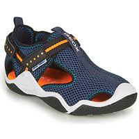 鞋子 男孩 运动凉鞋 Geox 健乐士 JR WADER 海蓝色 / 橙色