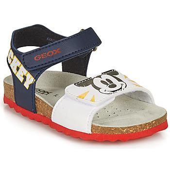鞋子 男孩 凉鞋 Geox 健乐士 SANDAL CHALKI BOY 海蓝色 / 白色
