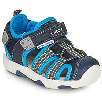 鞋子 男孩 运动凉鞋 Geox 健乐士 SANDAL MULTY BOY 蓝色