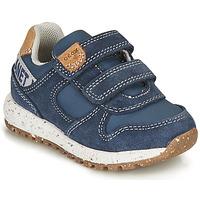 鞋子 男孩 球鞋基本款 Geox 健乐士 ALBEN BOY 蓝色 / 棕色