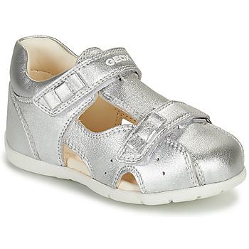 鞋子 女孩 凉鞋 Geox 健乐士 KAYTAN 银灰色
