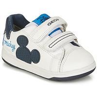 鞋子 男孩 球鞋基本款 Geox 健乐士 NEW FLICK BOY 白色 / 蓝色