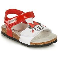 鞋子 女孩 凉鞋 Geox 健乐士 SANDAL CHALKI GIRL 红色 / 白色