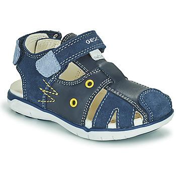 鞋子 男孩 凉鞋 Geox 健乐士 SANDAL DELHI BOY 海蓝色