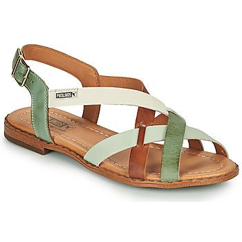 鞋子 女士 凉鞋 Pikolinos 派高雁 ALGAR W0X 棕色 / 绿色