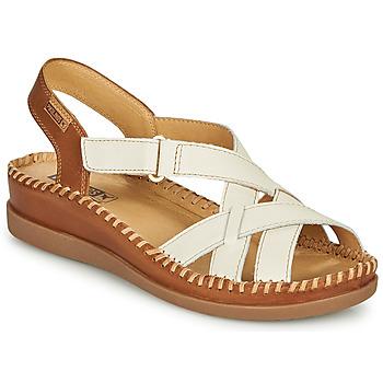 鞋子 女士 凉鞋 Pikolinos 派高雁 CADAQUES W8K 白色 / 棕色