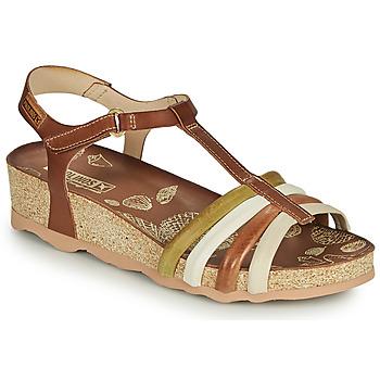 鞋子 女士 凉鞋 Pikolinos 派高雁 MAHON W9E 棕色 / 白色
