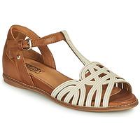 鞋子 女士 凉鞋 Pikolinos 派高雁 TALAVERA W3D 白色 / 棕色