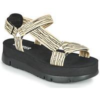 鞋子 女士 凉鞋 Camper 看步 ORUGA UP 黑色 / 米色