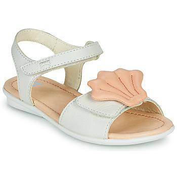 鞋子 女孩 凉鞋 Camper 看步 TWINS 玫瑰色 / 白色