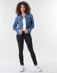 衣服 女士 牛仔铅笔裤 G-Star Raw Midge Zip Mid Skinny Wmn 黑色