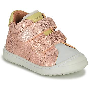 鞋子 女孩 球鞋基本款 Bisgaard TATE 玫瑰色 / 金色