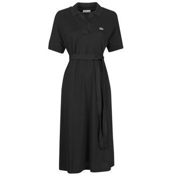 衣服 女士 长裙 Lacoste KONNI 黑色