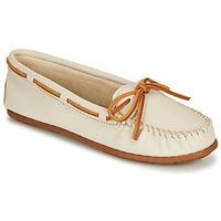 鞋子 女士 皮便鞋 Minnetonka BOAT MOC 白色