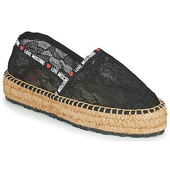 鞋子 女士 帆布便鞋 Love Moschino JA10373G1C 黑色
