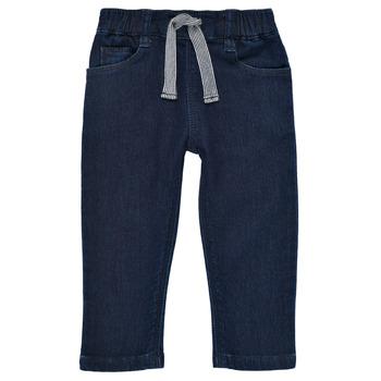 衣服 男孩 紧身牛仔裤 Petit Bateau 小帆船 MILET 蓝色