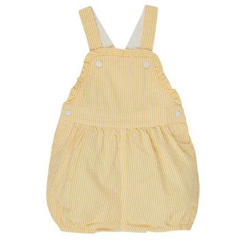 衣服 女孩 连体衣/连体裤 Petit Bateau 小帆船 MERINE 黄色