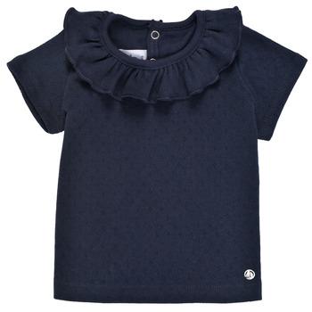 衣服 女孩 短袖体恤 Petit Bateau 小帆船 MELISSA 海蓝色