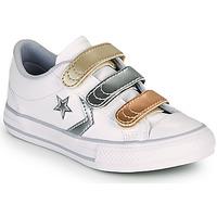 鞋子 女孩 球鞋基本款 Converse 匡威 STAR PLAYER 3V METALLIC LEATHER OX 白色