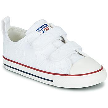 鞋子 女孩 球鞋基本款 Converse 匡威 CHUCK TAYLOR ALL STAR 2V LOVE CEREMONY OX 白色