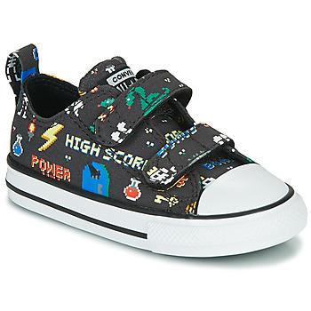 鞋子 男孩 球鞋基本款 Converse 匡威 CHUCK TAYLOR ALL STAR 2V BOYS GAMER OX 黑色 / 多彩