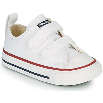 鞋子 儿童 球鞋基本款 Converse 匡威 CHUCK TAYLOR ALL STAR 2V FOUNDATION OX 白色