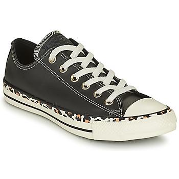 鞋子 女士 球鞋基本款 Converse 匡威 CHUCK TAYLOR ALL STAR ARCHIVE DETAILS OX 黑色 / Leopard