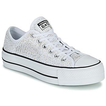 鞋子 女士 球鞋基本款 Converse 匡威 CHUCK TAYLOR ALL STAR LIFT BREATHABLE OX 白色