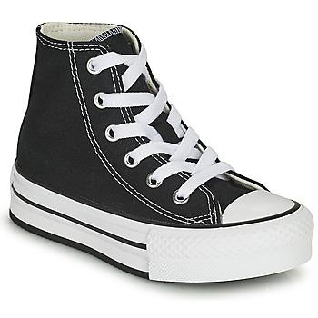 鞋子 女孩 高帮鞋 Converse 匡威 CHUCK TAYLOR ALL STAR EVA LIFT CANVAS COLOR HI 黑色