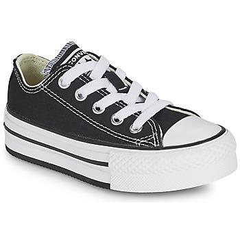 鞋子 女孩 球鞋基本款 Converse 匡威 CHUCK TAYLOR ALL STAR EVA PLATFORM FOUNDATION OX 黑色