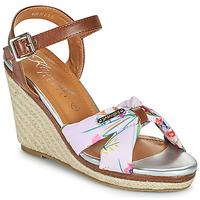 鞋子 女士 凉鞋 Kaporal MAKITA 棕色 / 白色