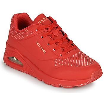 鞋子 女士 球鞋基本款 Skechers 斯凯奇 UNO STAND ON AIR 红色