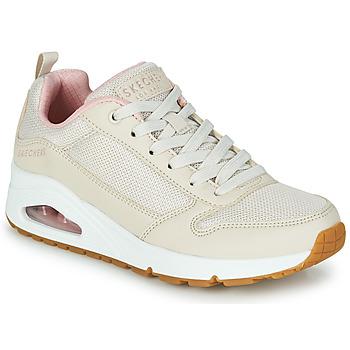 鞋子 女士 球鞋基本款 Skechers 斯凯奇 UNO INSIDE MATTERS 米色 / 玫瑰色