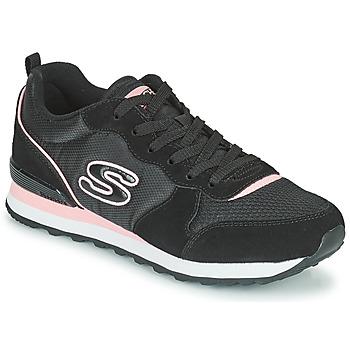 鞋子 女士 球鞋基本款 Skechers 斯凯奇 OG 85 黑色 / 玫瑰色