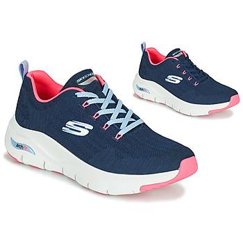 鞋子 女士 球鞋基本款 Skechers 斯凯奇 ARCH FIT 海蓝色 / 玫瑰色