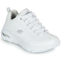 鞋子 女士 球鞋基本款 Skechers 斯凯奇 ARCH FIT 白色