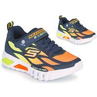 鞋子 男孩 球鞋基本款 Skechers 斯凯奇 FLEX-GLOW 海蓝色 / 橙色