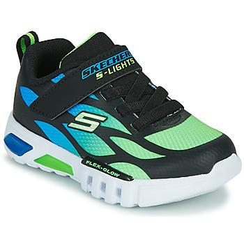 鞋子 男孩 球鞋基本款 Skechers 斯凯奇 FLEX-GLOW 黑色 / 蓝色 / 绿色