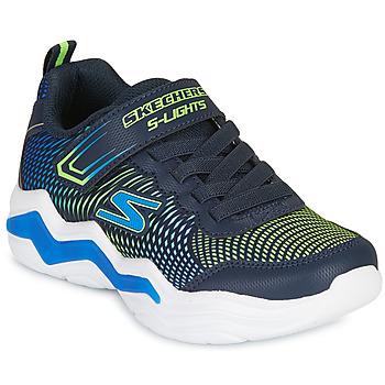 鞋子 男孩 球鞋基本款 Skechers 斯凯奇 ERUPTERS IV 海蓝色 / 绿色