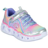 鞋子 女孩 球鞋基本款 Skechers 斯凯奇 HEART LIGHTS RAINBOW LUX 银灰色 / 玫瑰色