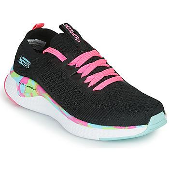 鞋子 女孩 球鞋基本款 Skechers 斯凯奇 SOLAR FUSE 黑色 / 玫瑰色