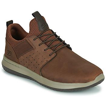 鞋子 男士 球鞋基本款 Skechers 斯凯奇 DELSON AXTON 棕色