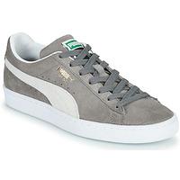 鞋子 球鞋基本款 Puma 彪马 SUEDE 灰色