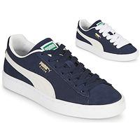 鞋子 球鞋基本款 Puma 彪马 SUEDE 蓝色