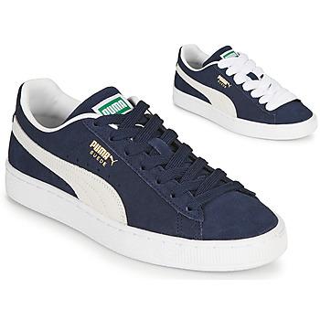 鞋子 男士 球鞋基本款 Puma 彪马 SUEDE 蓝色