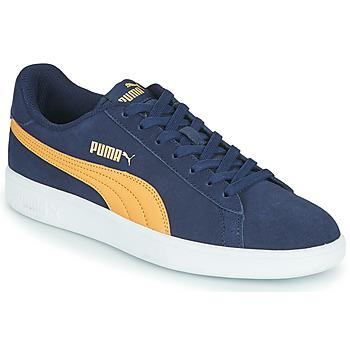 鞋子 男士 球鞋基本款 Puma 彪马 SMASH 蓝色 / 米色