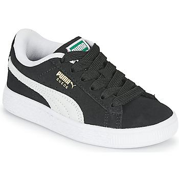 鞋子 儿童 球鞋基本款 Puma 彪马 SUEDE PS 黑色