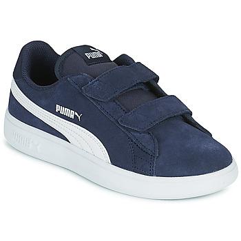 鞋子 儿童 球鞋基本款 Puma 彪马 SMASH PS 蓝色